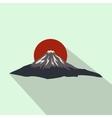 the sacred mountain fuji japan icon vector image vector image