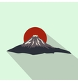 The sacred mountain of Fuji Japan icon vector image