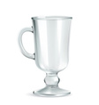 Traditional mug for Irish coffee empty iso vector image vector image