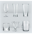 Transparent glasses goblets vector image