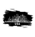 usa city skyline silhouette hand drawn sketch vector image