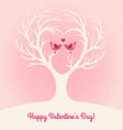 valentines day card with 2 lovebirds vector image