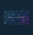 viral content modern concept linear vector image