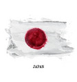 watercolor painting flag of japan vector image vector image
