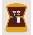 Wedding design over gray background vector image vector image