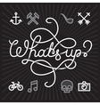 Whats up hipster Icons vector image vector image