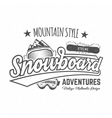 Winter snowboard sports label t-shirt Vintage vector image vector image