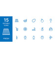 15 fresh icons vector image vector image