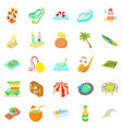 adventure icons set cartoon style vector image