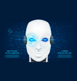 artificial intelligence concept background vector image vector image