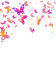 background of flying butterflies vector image vector image