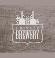 banner with a private brewery logo in retro style vector image vector image