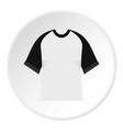 baseball shirt icon circle vector image vector image