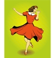 Beautiful woman dancing in vector image vector image
