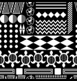 black and white hawaiian culture ornament seamless vector image vector image