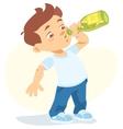 boy drinking soft drink vector image