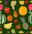 bright fruity seamless pattern vector image