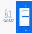 business logo for analysis document file find vector image
