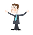 Business Man Isolated on White Background vector image vector image