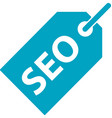 business search engine optimization tag icon vector image vector image