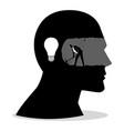 businessman silhouette jump ravine vector image vector image