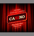 casino banner with retro-style vector image vector image