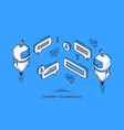 chatbot technology banner ai robot client support vector image vector image