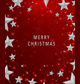 christmas and new years red background with frame vector image vector image