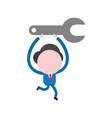 concept of faceless businessman character holding vector image