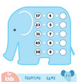 counting game for children count numbers in vector image vector image