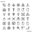 creative and design outline icons perfect pixel vector image vector image