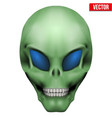 Creative Humanoid alien skull vector image vector image