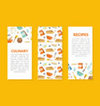 culinary recipes brochure template cover layout vector image vector image