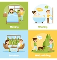 Daily People 2x2 Compositions vector image vector image