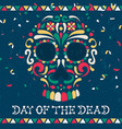day dead mexican sugar skull greeting card vector image vector image