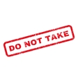 Do Not Take Text Rubber Stamp vector image vector image