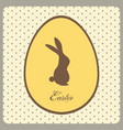 easter egg with bunny and text on vintage vector image vector image