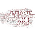 employers word cloud concept vector image vector image