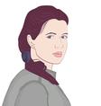 Girl portrait Female face vector image