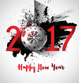 grunge happy new year background 1510 vector image vector image