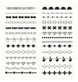 Hand drawn line border set and scribble vector image vector image