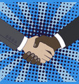 handshake of businessmen vector image
