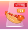 Hot dog modern design for cafes and restaurants vector image
