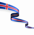 icelandic flag wavy abstract background vector image