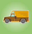 icon with farm truck vector image vector image