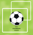 Image of soccer ball on green background brochure