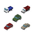 isometric automobile set of auto armored car and vector image vector image