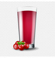 juice of cranberry transparent background vector image vector image