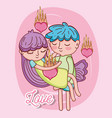 kids and love vector image vector image