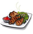 lamb ribs vector image vector image